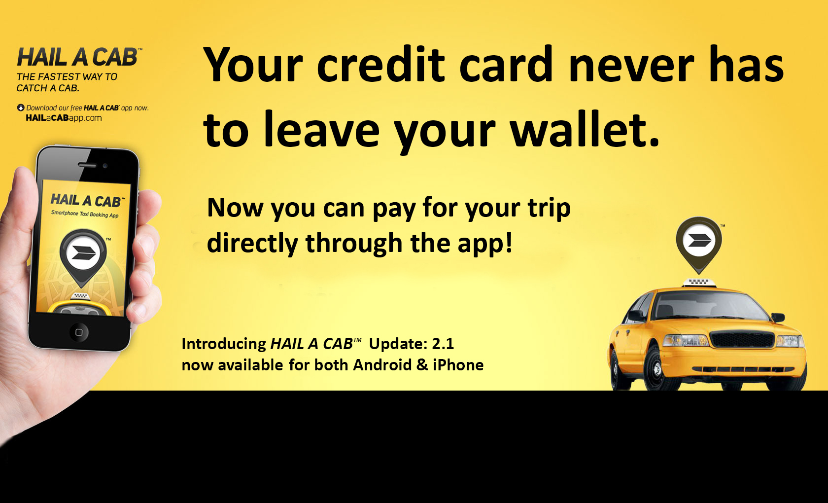 how to pay for a taxi with a credit card