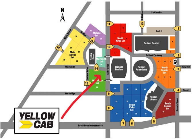 Houston Rodeo Parking Map Howdy from HAIL A CAB™…it's Rodeo season! – Yellow Cab Houston