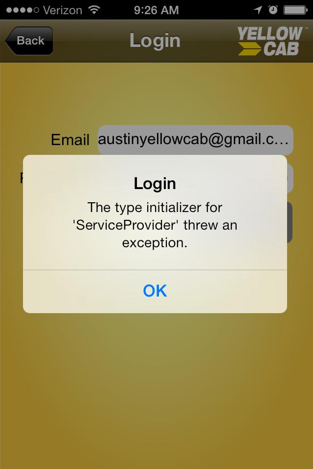 Pof app login error