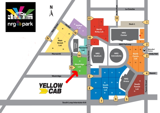 Houston Rodeo Parking Map Houston Taxi – Yellow Cab Houston